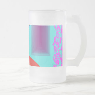 Let's Have a Chat 16 Oz Frosted Glass Beer Mug