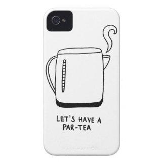 Let's Have a Par-Tea iPhone 4 Case