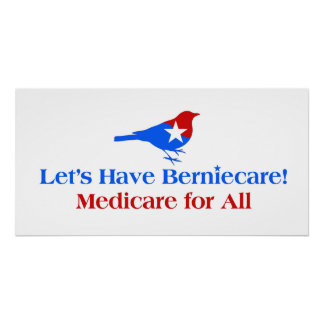 Let's Have Berniecare -- Medicare for All Poster