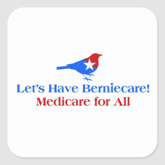 Let's Have Berniecare - Medicare For All Square Sticker
