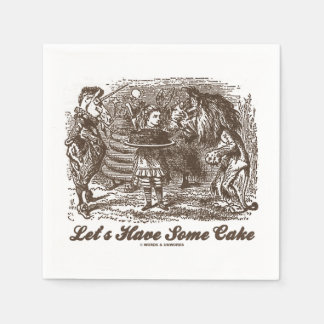 Let's Have Some Cake (Alice Unicorn Lion) Paper Napkin