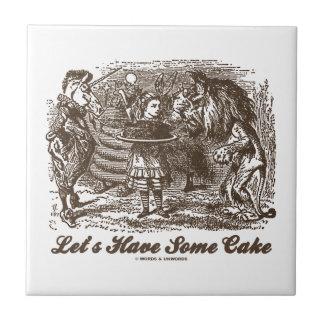 Let's Have Some Cake (Alice Unicorn Lion) Tiles