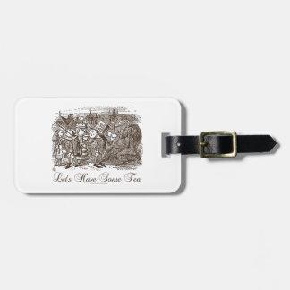 Let's Have Some Tea Wonderland Alice Haigha Hatta Luggage Tag