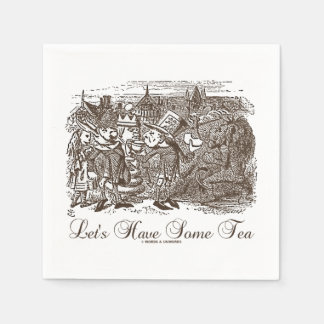 Let's Have Some Tea Wonderland Alice Haigha Hatta Paper Napkin