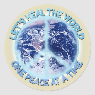 Let's heal the World Classic Round Sticker