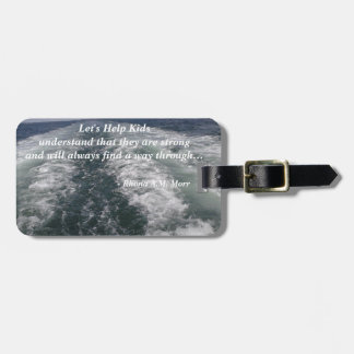 Let's Help Kids Luggage Tag w/ leather strap