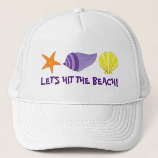 Let's Hit the Beach Sea Shells Starfish Vacation Trucker Hat