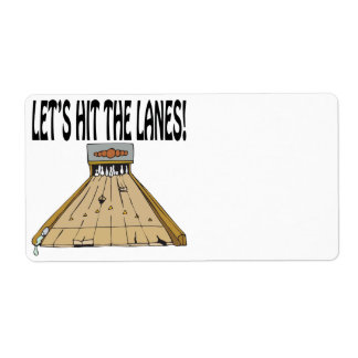 Lets Hit The Lanes Shipping Label