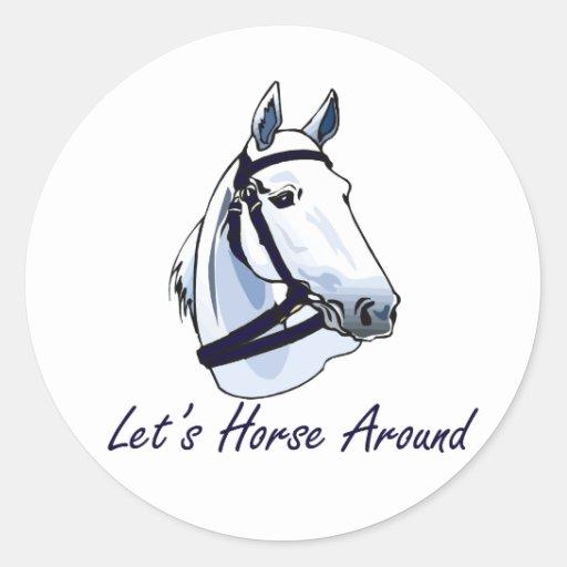Lets Horse Around Arabian Blue Halter Stickers
