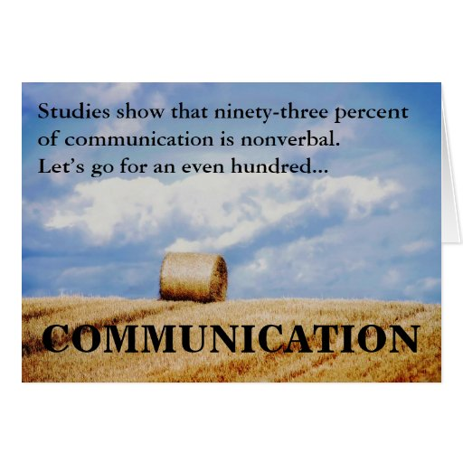 Let's improve our communications skills greeting card