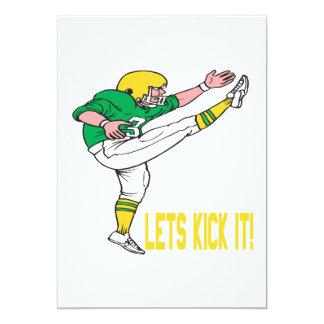 """Lets Kick It 5"""" X 7"""" Invitation Card"""