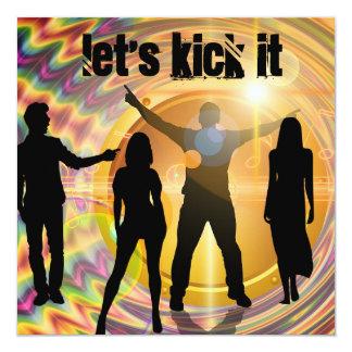 """Let's Kick It"" Birthday Invitation"