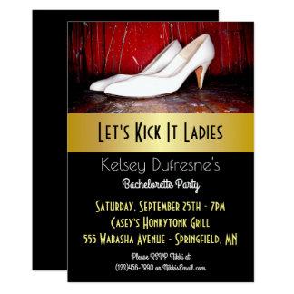 Let's Kick It Ladies Bachelorette Party Card