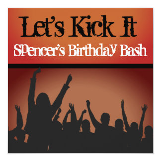 """Let's Kick It"" Party Invitation"