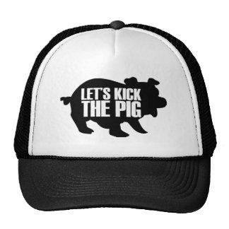 let's kick the pig trucker hat