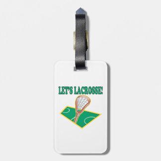 Lets Lacrosse Luggage Tag