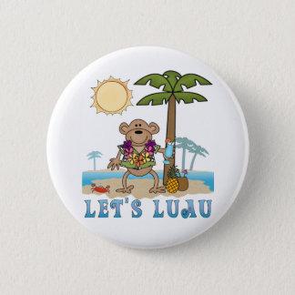 Lets Luau (Boy Monkey) 2 Inch Round Button
