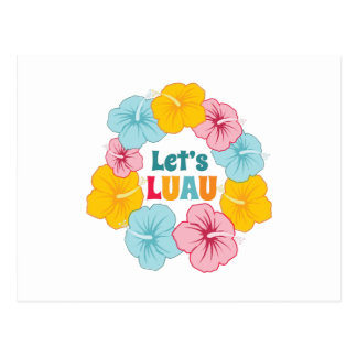 Lets Luau Postcard