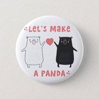 let's make a panda 2 inch round button