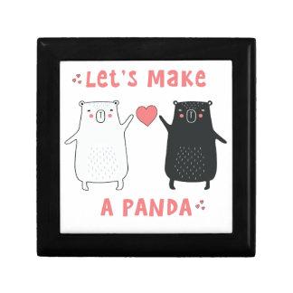 let's make a panda gift box