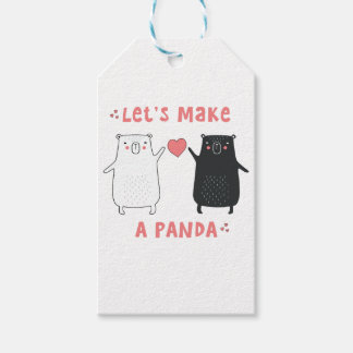 let's make a panda gift tags