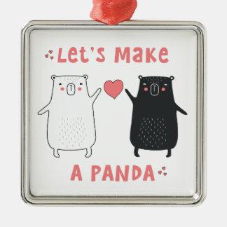 let's make a panda metal ornament