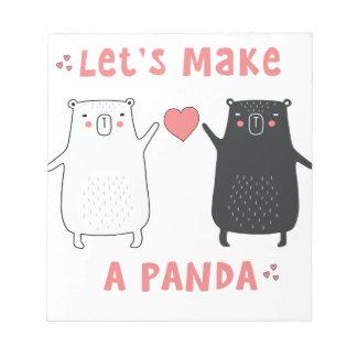 let's make a panda notepad
