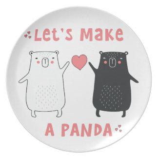 let's make a panda plate