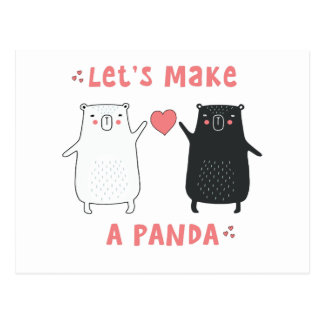 let's make a panda postcard