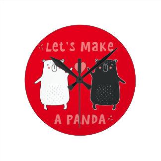 let's make a panda round clock