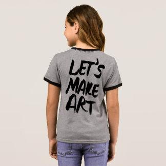 Lets Make Art Ringer T-Shirt