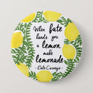 Let's Make Lemonade 3 Inch Round Button