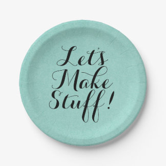 Let's Make Stuff • Craft Party 7 Inch Paper Plate