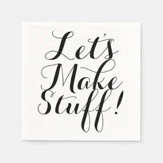 Let's Make Stuff • Craft Party Paper Napkins