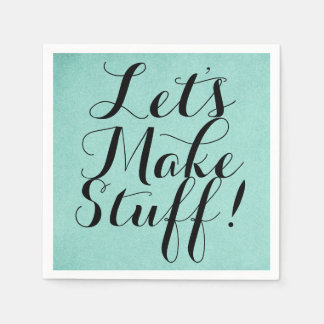Let's Make Stuff • Craft Party Teal Paper Napkin