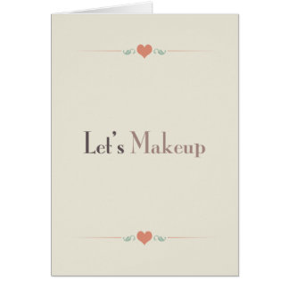 Let's Makeup Card
