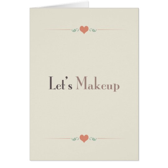 Let's Makeup Card