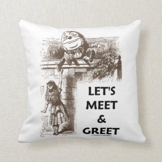 Let's Meet & Greet Wonderland Alice Humpty Dumpty Throw Pillow
