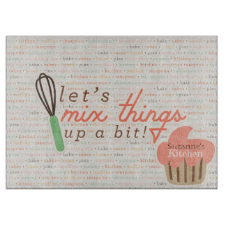 Let's Mix Things Up Cutting Board