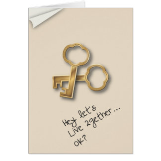 Let's Move In Together Couples Commitment Card