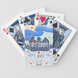 Let's Move To Amsterdam Bicycle Playing Cards