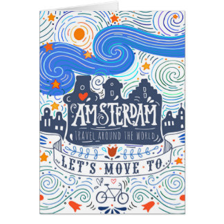 Let's Move To Amsterdam Card