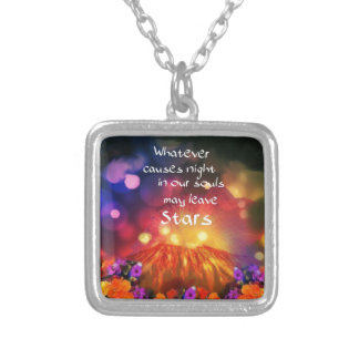 Lets out the best in you silver plated necklace