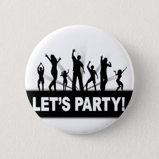 Let's Party 2 Inch Round Button