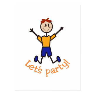 Lets Party Boy Postcard