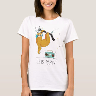 Let's Party Cute Sloth Women's T-Shirt