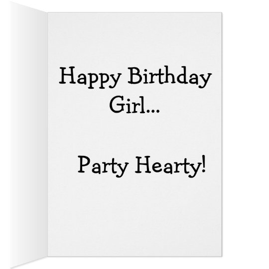 LET'S PARTY! FUN PARTY RED WINE PRINT CARD