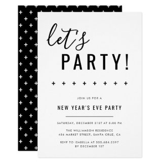 Let's Party! New Year's Eve Party Invitations