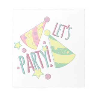 Lets Party Notepad