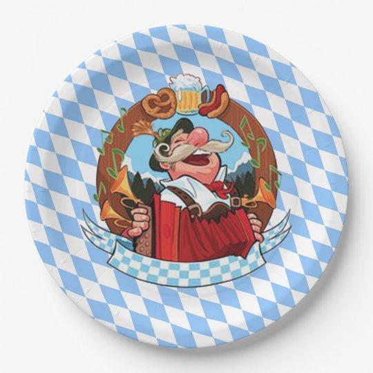 Let's Party Oktoberfest Party Paper Plates 9 Inch Paper Plate